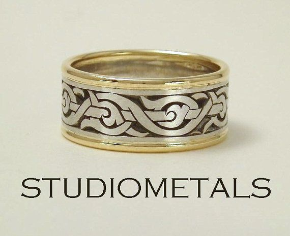 Mens Wedding Ring Nordic Ring Viking Ring Mens By