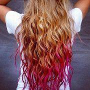 blond hair pink tips lovely