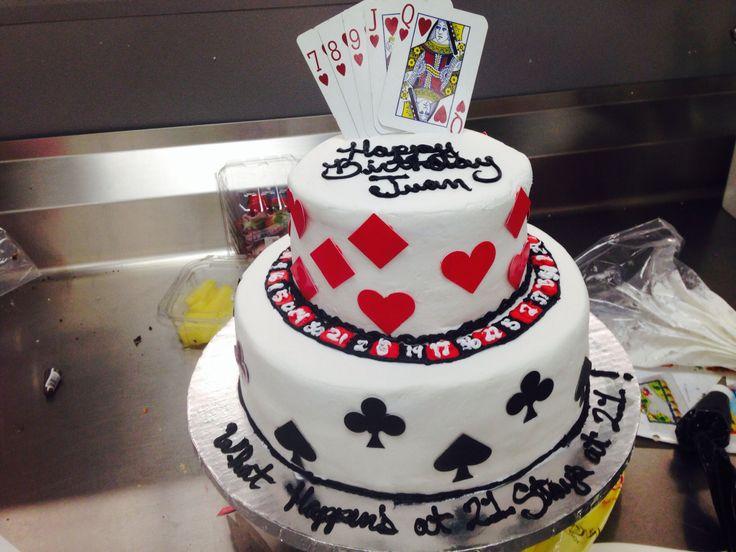 Two Tier Poker Cake Walmart Cake Casino Cake