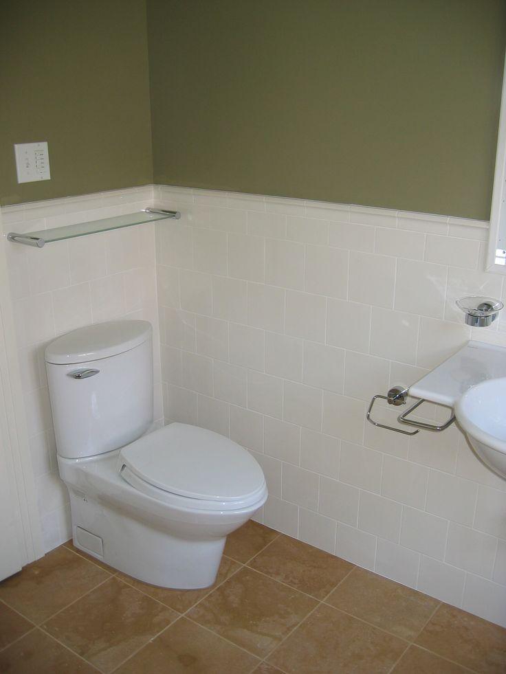 Tile bathroom wainscoting  Bathroom Remodel Ideas