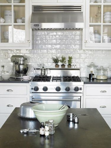how to clean kitchen tiles walls much does it cost refinish cabinets high gloss subway tile | white brick/subway ...