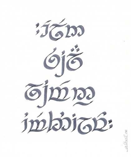 Phrase help : Tengwar