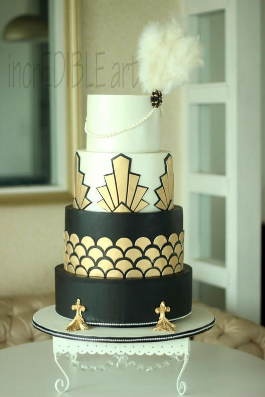 Gatsby Wedding Cake by Rumana Jaseel  httpcakesdecor