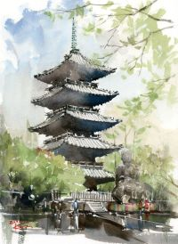 25+ best ideas about Japanese watercolor on Pinterest