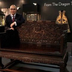Antique Chinese Dragon Chair Outdoor High Top Table And Sets An Outstanding Imperial Carved Zitan 'dragon' Throne. Qing Dynasty, Qianlong Period. Photo ...