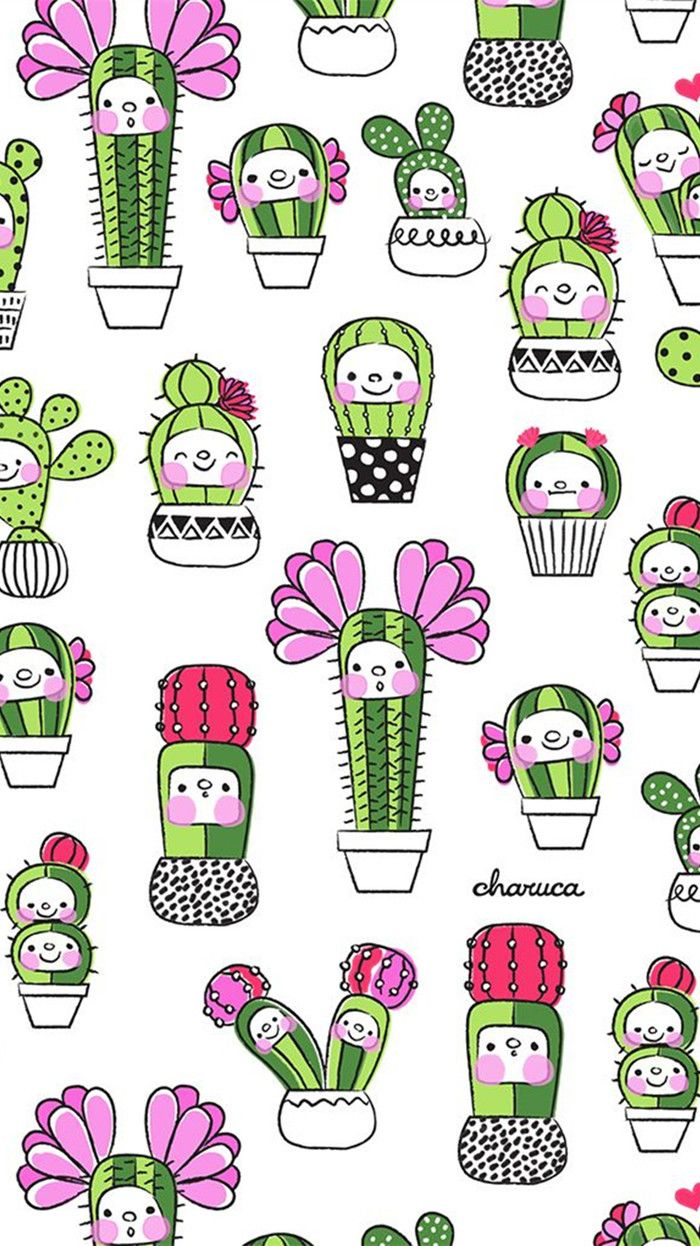 Cute Cactus Wallpaper Macbook Iphone5 Iphone6 Iphone6 Plus Fondo De Pantalla Del Dise 241 O