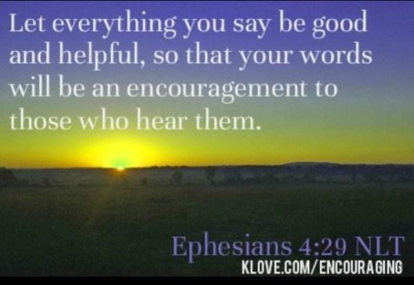 Ephesians 429 God39s word is life Pinterest