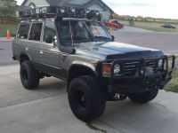 Toyota Land Cruiser fj60 fj62 bumpers and roof rack