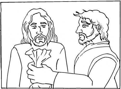 Jesus coloring pages, Jesus and Last supper on Pinterest