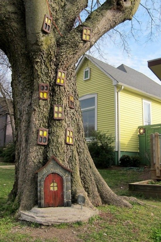 25 Best Ideas About Fairy Tree Houses On Pinterest Gnome