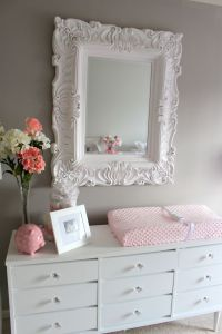 Elegant Pink & Grey Nursery | Baby girls, Girls and Tables