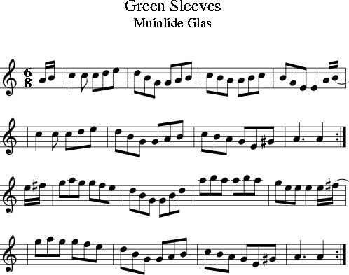 Green Sleeves (Irish Folk Song) (Ireland) sheet music for