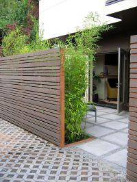 Horizontal slat fence and bamboos. | DIY | Pinterest ...