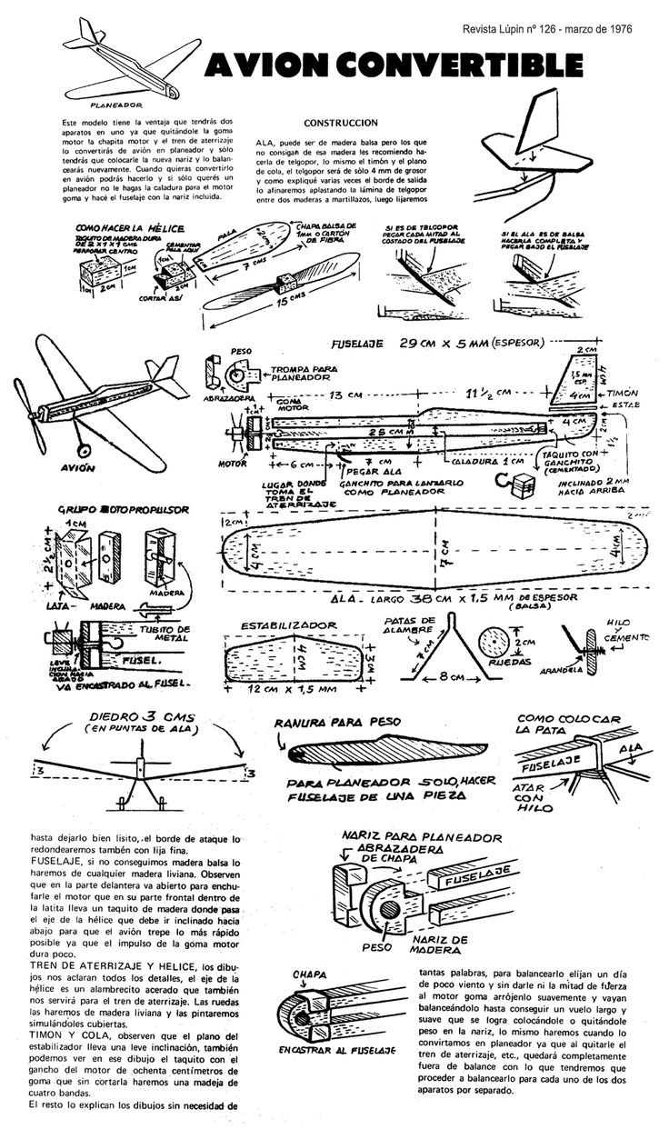 48 best images about RC Airplane Build Plans on Pinterest