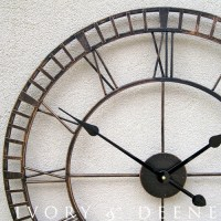 Large Wrought Iron Wall Clock, French Provincial Rustic ...