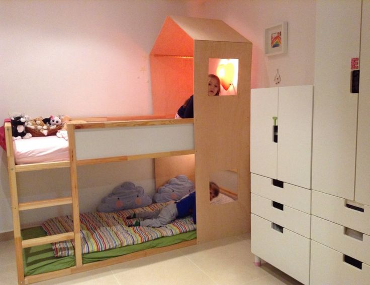 1000 ideas about Ikea Bunk Bed on Pinterest  Ikea kura bed Kura bed and Ikea bunk bed hack