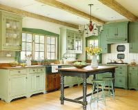 old farmhouse kitchen   Vintage Farmhouse Kitchen Cabinets ...