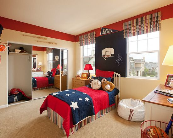 17+ Ideas About Sports Themed Bedrooms On Pinterest