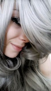 silver colour hair grey