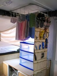Clever idea! | Camper: Pop Up Camper Organization Ideas ...