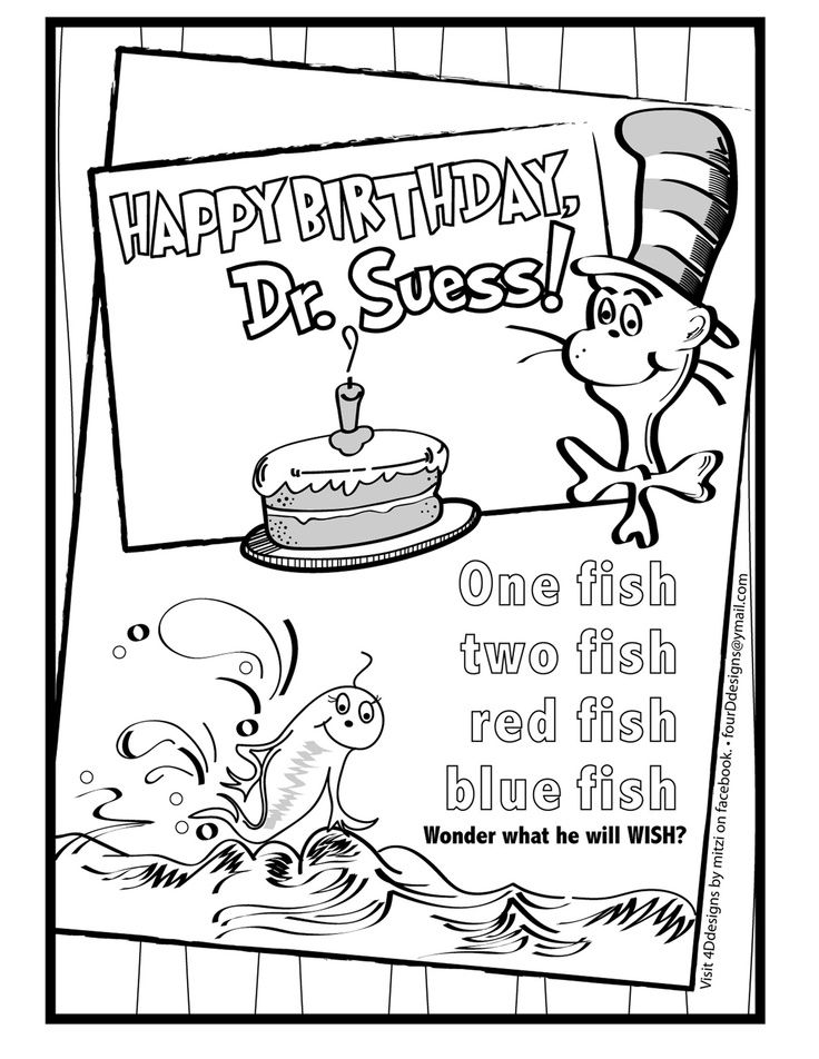 17+ images about Dr Seuss coloring sheets on Pinterest