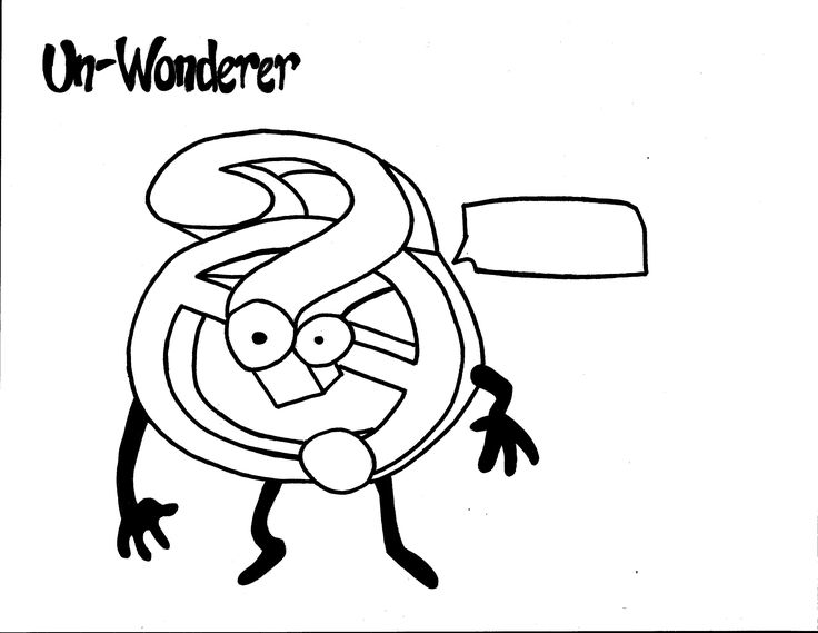 Un-Wonderer Coloring Page. Team Unthinkables. Superflex