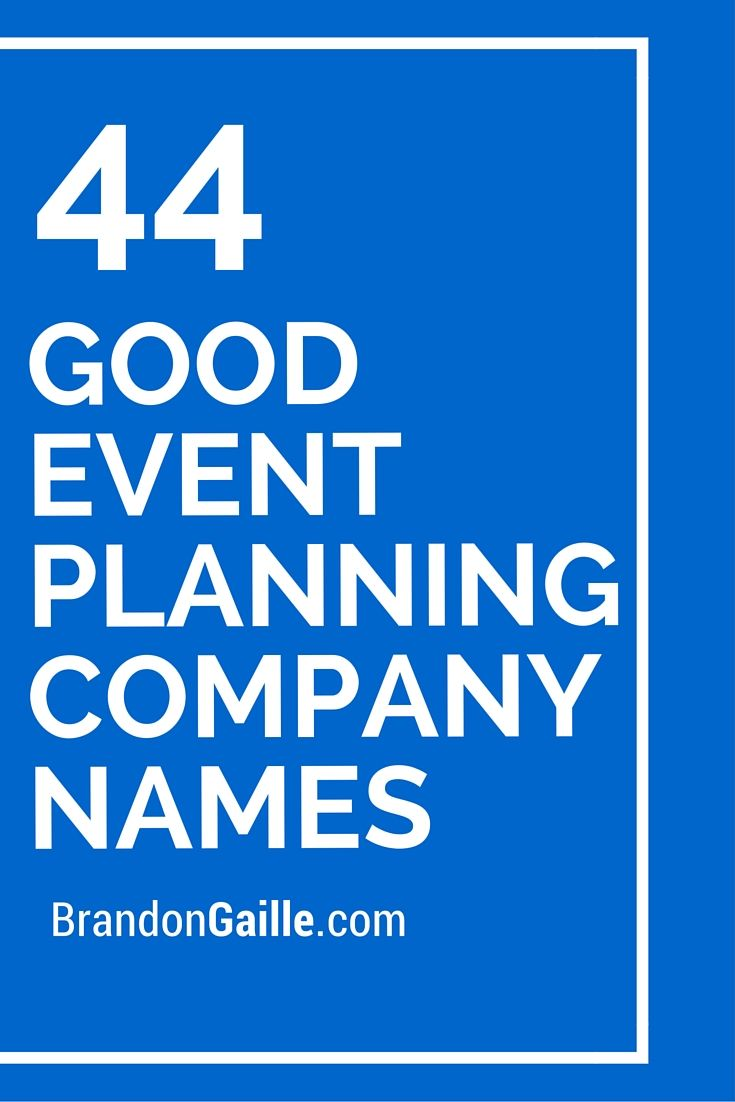 event planning business plan samples