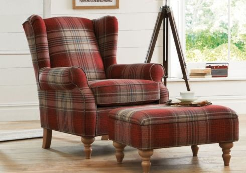 Sherlock Chair 450 And Footstool 199 Seen In Stirling