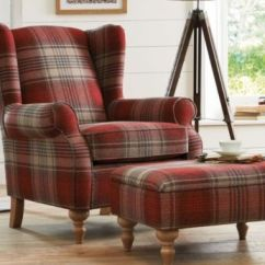 Leather Wing Chairs Uk Office Chair Heavy Weight Sherlock Chair, £450 And Footstool, £199, Seen In Stirling Red, Next. Pa Photo/handout. | For ...