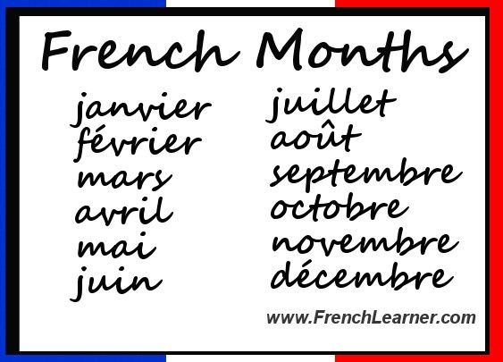 tutorial : how to speak months of the year in france language | eiffel - france | Pinterest | French. Never and Of