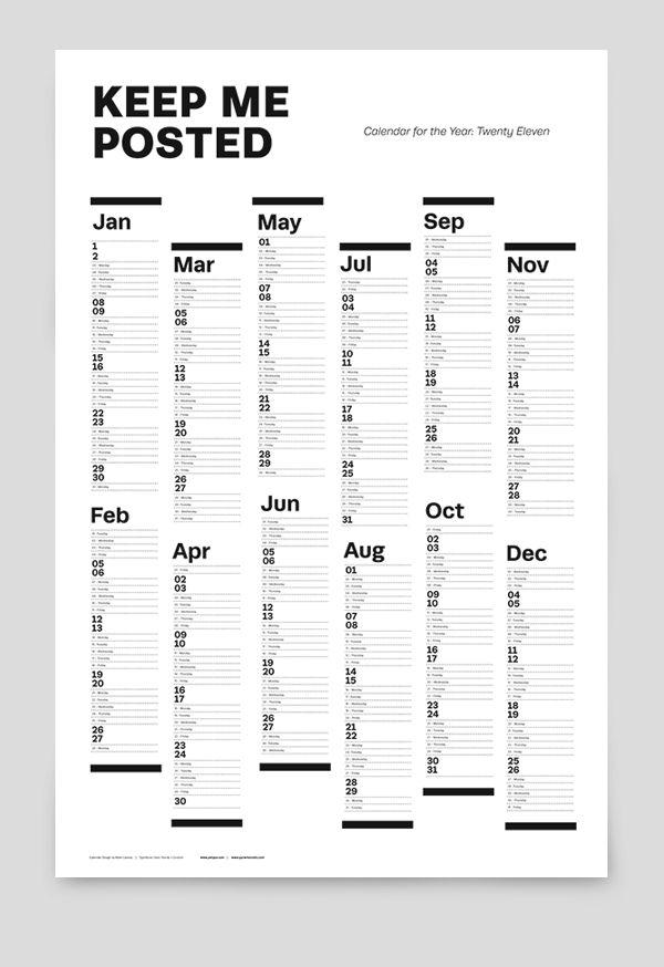 25 best Events Calendar Design Ideas images on Pinterest
