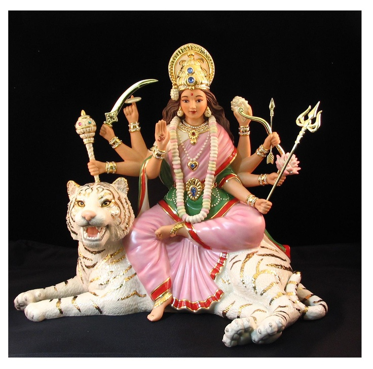 Durga on a white tiger tigers destiny pinterest