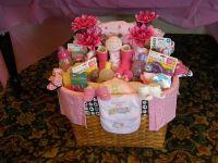 Baby shower gift basket for a girl | Crafts | Pinterest ...