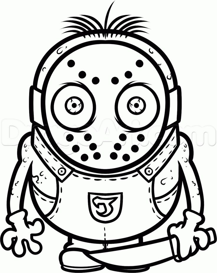 how to draw a jason voorhees minion step 11  svg files