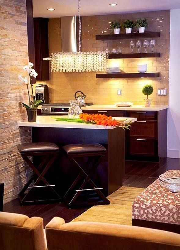 Quaint Kitchen  Small Condo Interior Design Inspiration