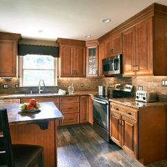 Granite Kitchen Counters Braun Appliances Wolf Classic Cabinets In Hudson Heritage Brown With ...