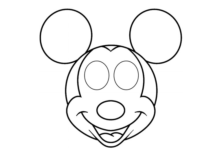 Mickey Mouse Mask Printable Free Printing Thinking