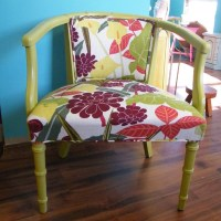 Upcycled Furniture Mid Century Barrel Back Chair New ...