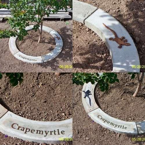 make concrete tree rings