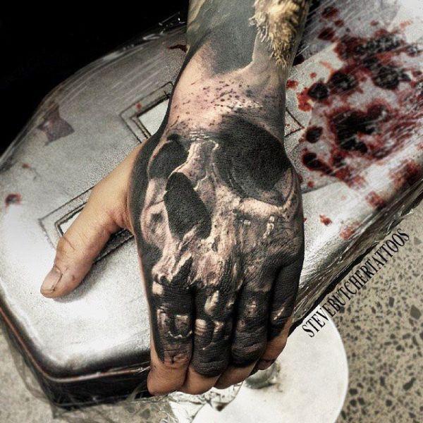 20 Animal Skull Hand Tattoos Ideas And Designs