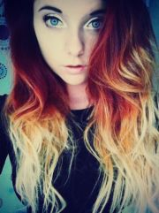 red orange ombr hair dip dye