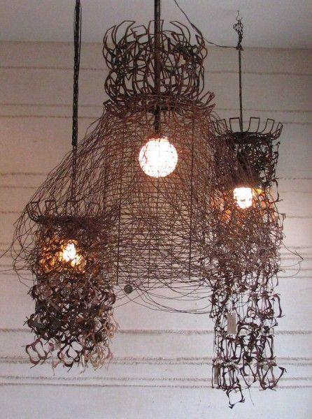 Very Cool Recycled Scrap Metal Lamps DIYMetalRecycledRepurposed Pinterest Metals Metal