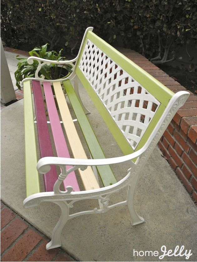 25 best ideas about Painted benches on Pinterest