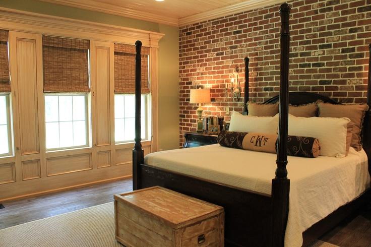 Master Bedroom Brick Wall Home Pinterest Master