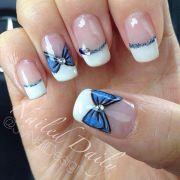 ideas white tip nails