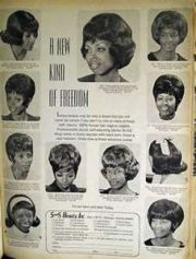 1960s wigs and 1950s