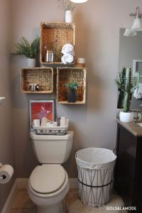 Bathroom shelves with a twist! (sponsored pin) | HomeGoods ...