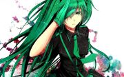 anime green hair girl #manga #illustration