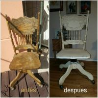 Desk chair #lulasrecycledfurniture | distressed + recycled ...