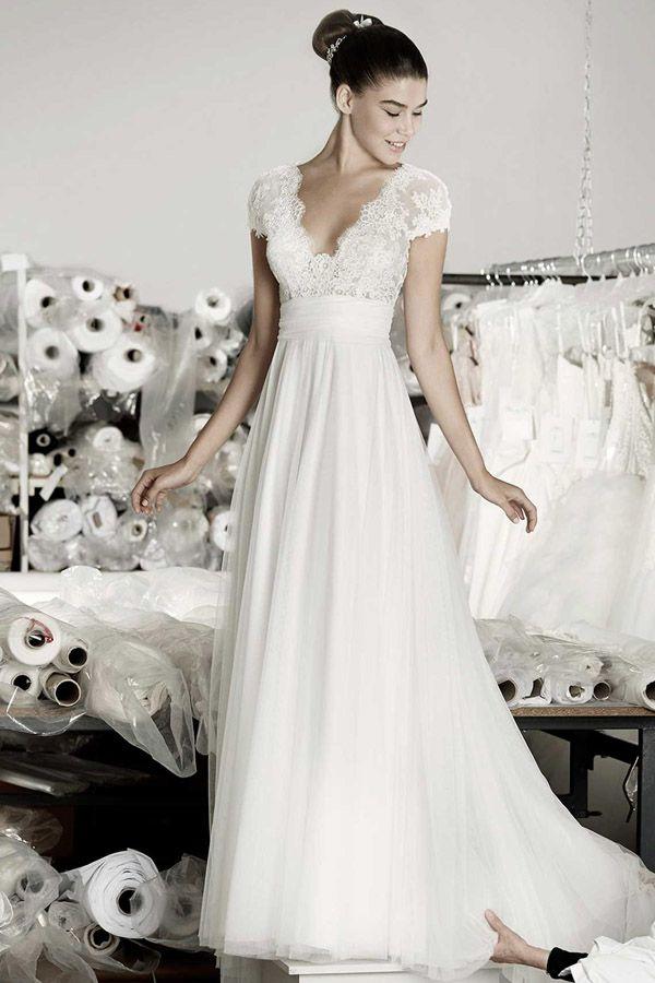 Die besten 20 Spitzen Hochzeitskleider Ideen auf